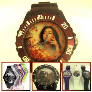ceasuri de mana personalizate cu poze, colorate