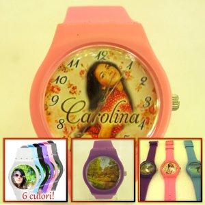 ceasuri de mana femei, mare, personalizate cu poze
