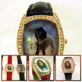 ceasuri de mana ornamentate cu cristale, personalizate cu poze, dreptunghi