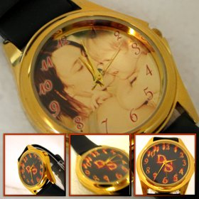 ceas de mana personalizat aurit, unisex