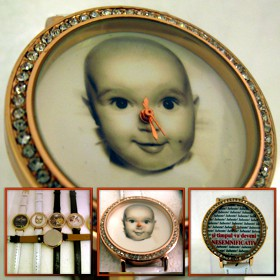 ceasuri de mana femei, personalizat cu poze, curea alba