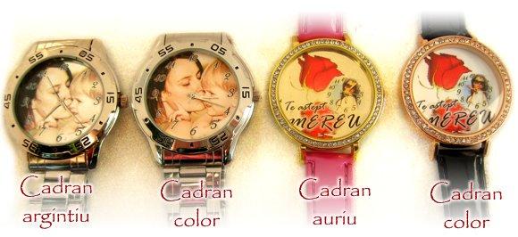 ceasuri de mana personalizate cu poze pe cadran