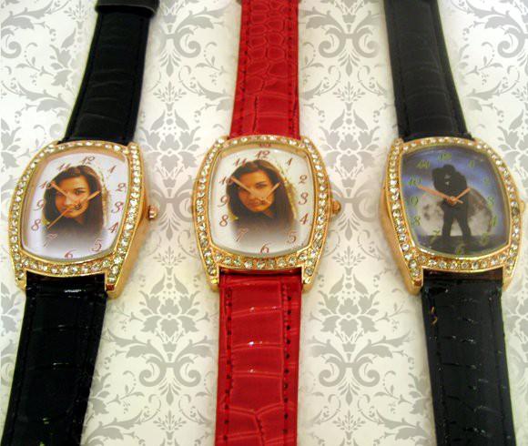 ceasuri de mana dreptunghi cu cristale, personalizate