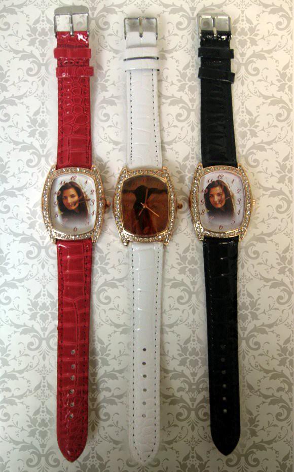 ceasuri de mana cu cristale, personalizate cu poze