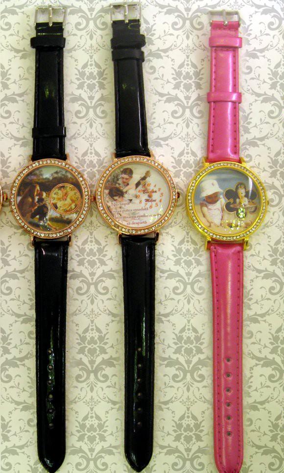 ceasuri femei personalizate, curea roz