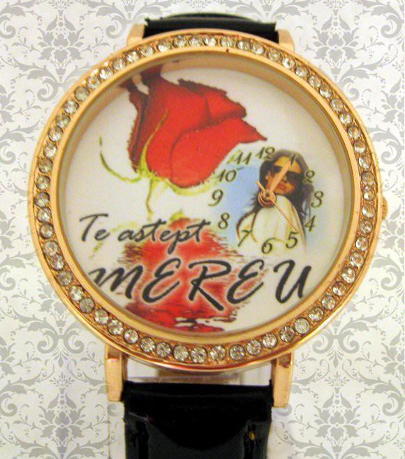 ceas femei, romantic, personalizat cu poze si mesaje