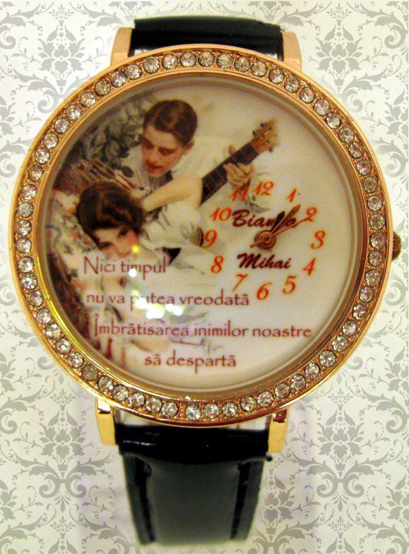 ceasuri romantice pentru femei, personalizate cu poze si mesaje