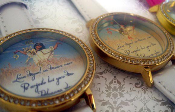 ceasuri romantice pentru femei, personalizate, cadrane aurite