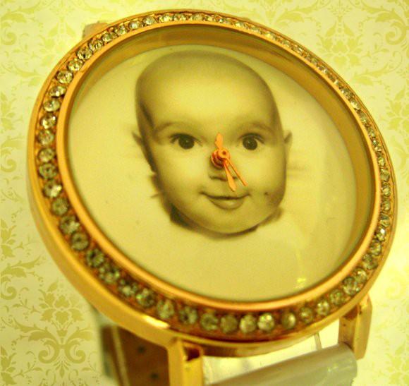 ceas  femei personalizat cu poza, aratatoare mici