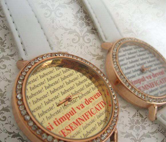ceasuri femei personalizate, mari cu cristale