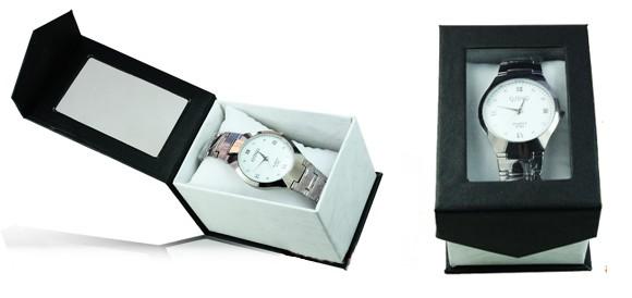 cutii ceasuri cadou, capac transparent