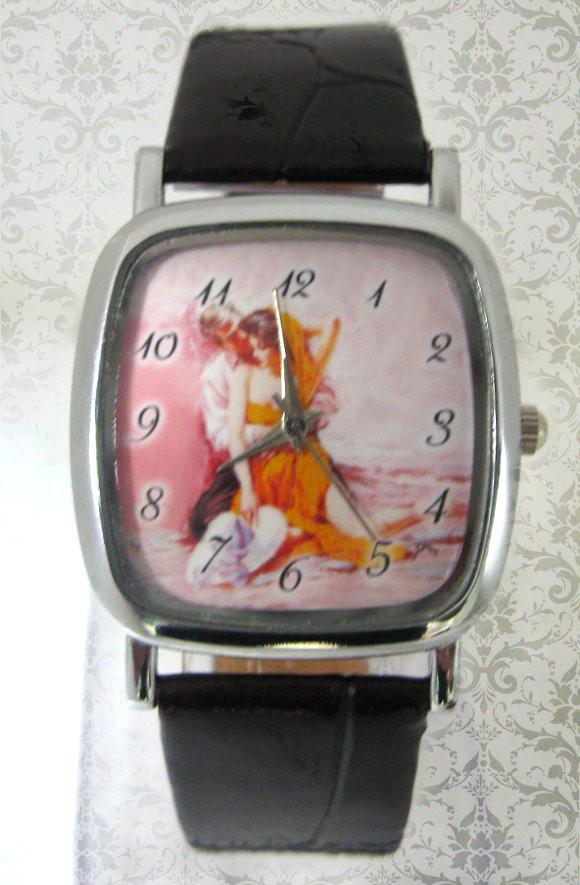 ceasuri de mana unisex patrat mic, personalizat cu poze