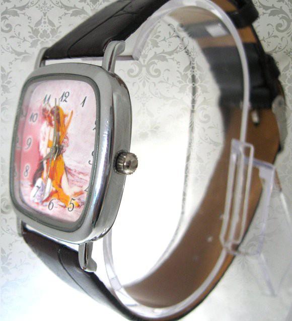 ceasuri de mana patrat mic, curea de piele, personalizate