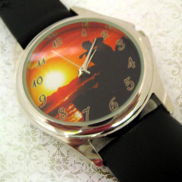 ceas de mana argintiu personalizat cu poze