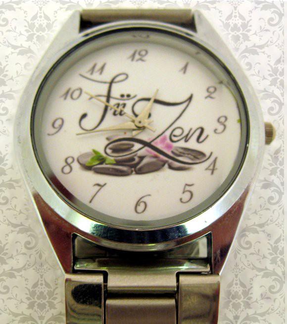 ceas de mana metalic mediu, personalizat cu poza